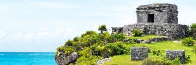 ¡Viva Mexico! Panoramic Collection - Ancient Mayan Fortress in Riviera Maya - Tulum-Philippe Hugonnard-Photographic Print