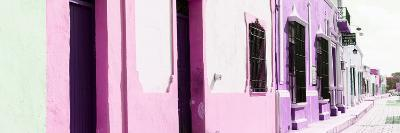 ¡Viva Mexico! Panoramic Collection - Campeche Colorful Street II-Philippe Hugonnard-Photographic Print