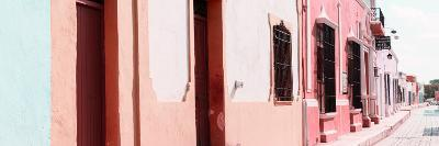 ¡Viva Mexico! Panoramic Collection - Campeche Colorful Street III-Philippe Hugonnard-Photographic Print