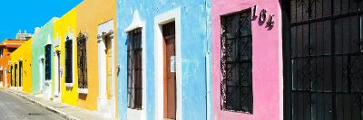 ¡Viva Mexico! Panoramic Collection - Campeche Colorful Street V-Philippe Hugonnard-Photographic Print