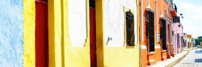 ¡Viva Mexico! Panoramic Collection - Campeche Colorful Street-Philippe Hugonnard-Photographic Print