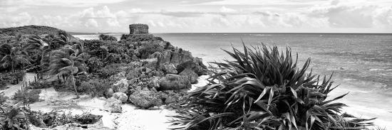 ¡Viva Mexico! Panoramic Collection - Caribbean Coastline in Tulum VII-Philippe Hugonnard-Photographic Print
