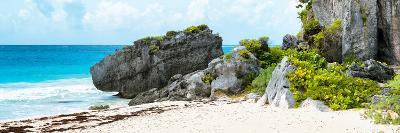 ¡Viva Mexico! Panoramic Collection - Caribbean Coastline in Tulum-Philippe Hugonnard-Photographic Print