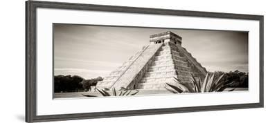 ¡Viva Mexico! Panoramic Collection - Chichen Itza Pyramid II-Philippe Hugonnard-Framed Photographic Print