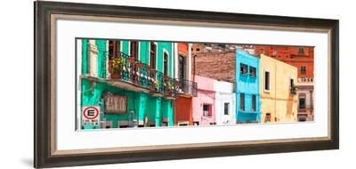¡Viva Mexico! Panoramic Collection - Colorful City Guanajuato-Philippe Hugonnard-Framed Photographic Print