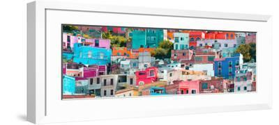 ¡Viva Mexico! Panoramic Collection - Colorful Cityscape Guanajuato XIV-Philippe Hugonnard-Framed Photographic Print