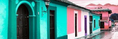 ¡Viva Mexico! Panoramic Collection - Colorful Street Scene San Cristobal de Las Casas III-Philippe Hugonnard-Photographic Print