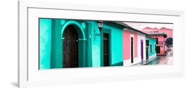 ¡Viva Mexico! Panoramic Collection - Colorful Street Scene San Cristobal de Las Casas III-Philippe Hugonnard-Framed Photographic Print