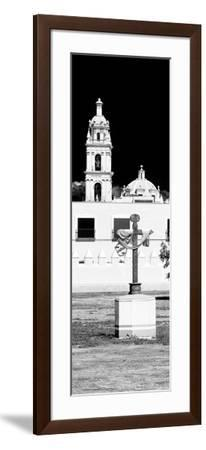 ¡Viva Mexico! Panoramic Collection - Courtyard of a Church in Puebla-Philippe Hugonnard-Framed Photographic Print