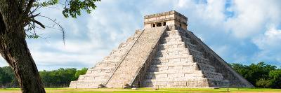 ¡Viva Mexico! Panoramic Collection - El Castillo Pyramid - Chichen Itza X-Philippe Hugonnard-Photographic Print