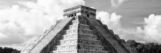 ¡Viva Mexico! Panoramic Collection - El Castillo Pyramid in Chichen Itza III-Philippe Hugonnard-Photographic Print