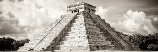 ¡Viva Mexico! Panoramic Collection - El Castillo Pyramid in Chichen Itza V-Philippe Hugonnard-Photographic Print