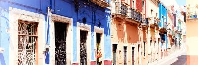 ¡Viva Mexico! Panoramic Collection - Facades of Colors in Guanajuato II-Philippe Hugonnard-Photographic Print