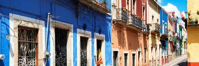 ¡Viva Mexico! Panoramic Collection - Facades of Colors in Guanajuato-Philippe Hugonnard-Photographic Print