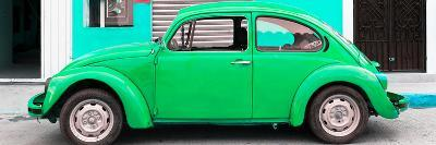 ¡Viva Mexico! Panoramic Collection - Green VW Beetle Car-Philippe Hugonnard-Photographic Print