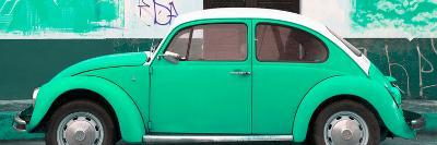 ¡Viva Mexico! Panoramic Collection - Green VW Beetle-Philippe Hugonnard-Photographic Print