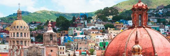 ¡Viva Mexico! Panoramic Collection - Guanajuato Church Domes I-Philippe Hugonnard-Photographic Print