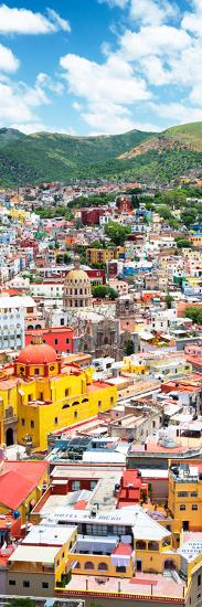 ¡Viva Mexico! Panoramic Collection - Guanajuato Colorful Cityscape V-Philippe Hugonnard-Photographic Print