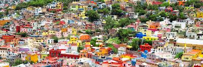 ?Viva Mexico! Panoramic Collection - Guanajuato Colorful Cityscape VIII-Philippe Hugonnard-Photographic Print