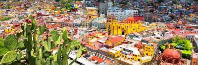 ¡Viva Mexico! Panoramic Collection - Guanajuato Colorful Cityscape XIV-Philippe Hugonnard-Photographic Print