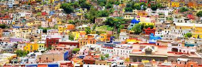 ¡Viva Mexico! Panoramic Collection - Guanajuato Colorful Cityscape XV-Philippe Hugonnard-Photographic Print