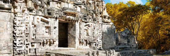 ¡Viva Mexico! Panoramic Collection - Hochob Mayan Pyramid III-Philippe Hugonnard-Photographic Print