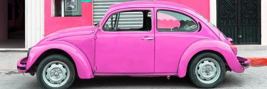 ¡Viva Mexico! Panoramic Collection - Hot Pink VW Beetle Car-Philippe Hugonnard-Photographic Print