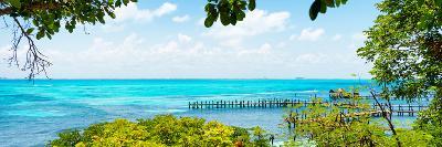 ¡Viva Mexico! Panoramic Collection - Isla Mujeres Coastline V-Philippe Hugonnard-Photographic Print