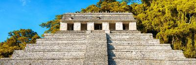 ¡Viva Mexico! Panoramic Collection - Mayan Temple of Inscriptions with Fall Colors II-Philippe Hugonnard-Photographic Print