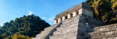 ¡Viva Mexico! Panoramic Collection - Mayan Temple of Inscriptions with Fall Colors-Philippe Hugonnard-Photographic Print