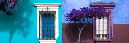 ¡Viva Mexico! Panoramic Collection - Mexican Colorful Facades V-Philippe Hugonnard-Photographic Print