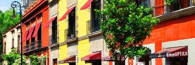 ¡Viva Mexico! Panoramic Collection - Mexico City Colorful Facades-Philippe Hugonnard-Photographic Print