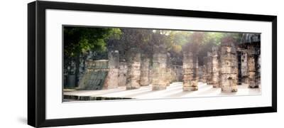¡Viva Mexico! Panoramic Collection - One Thousand Mayan Columns - Chichen Itza II-Philippe Hugonnard-Framed Photographic Print