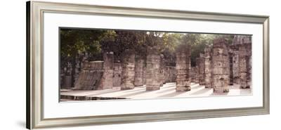 ¡Viva Mexico! Panoramic Collection - One Thousand Mayan Columns - Chichen Itza IV-Philippe Hugonnard-Framed Photographic Print