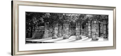 ¡Viva Mexico! Panoramic Collection - One Thousand Mayan Columns - Chichen Itza-Philippe Hugonnard-Framed Photographic Print