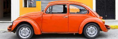 ¡Viva Mexico! Panoramic Collection - Orange VW Beetle Car-Philippe Hugonnard-Photographic Print