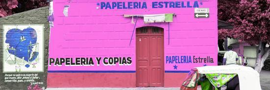 ¡Viva Mexico! Panoramic Collection - Pink Papeleria Estrella-Philippe Hugonnard-Photographic Print
