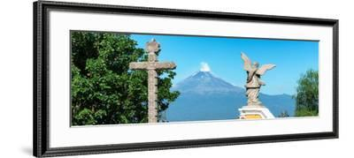 ¡Viva Mexico! Panoramic Collection - Popocatepetl Volcano in Puebla VI-Philippe Hugonnard-Framed Photographic Print