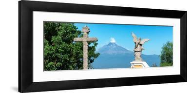 ¡Viva Mexico! Panoramic Collection - Popocatepetl Volcano in Puebla VI-Philippe Hugonnard-Framed Photographic Print
