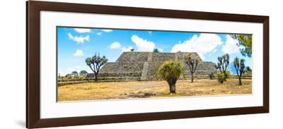 ¡Viva Mexico! Panoramic Collection - Pyramid of Cantona Archaeological Ruins VI-Philippe Hugonnard-Framed Photographic Print