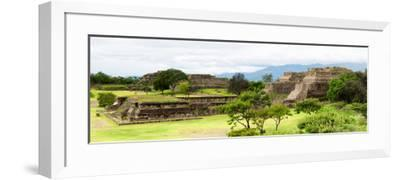 ¡Viva Mexico! Panoramic Collection - Pyramid of Monte Alban II-Philippe Hugonnard-Framed Photographic Print