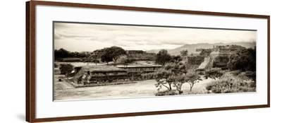 ¡Viva Mexico! Panoramic Collection - Pyramid of Monte Alban III-Philippe Hugonnard-Framed Photographic Print