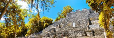 ¡Viva Mexico! Panoramic Collection - Pyramyd of the ancient Mayan City III - Calakmul-Philippe Hugonnard-Photographic Print