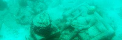 ¡Viva Mexico! Panoramic Collection - Sculptures at bottom of sea in Cancun III-Philippe Hugonnard-Photographic Print