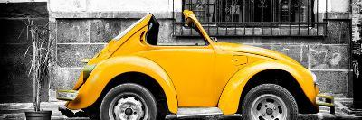 ¡Viva Mexico! Panoramic Collection - Small Gold VW Beetle Car-Philippe Hugonnard-Photographic Print
