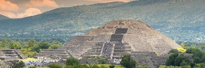 ¡Viva Mexico! Panoramic Collection - Teotihuacan Pyramid of the Sun II-Philippe Hugonnard-Photographic Print