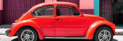 ¡Viva Mexico! Panoramic Collection - The Red Beetle Car-Philippe Hugonnard-Photographic Print