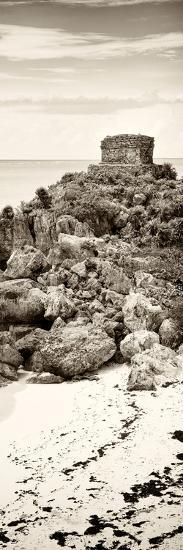 ¡Viva Mexico! Panoramic Collection - Tulum Ruins along Caribbean Coastline II-Philippe Hugonnard-Photographic Print