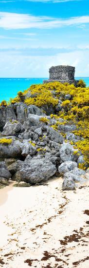¡Viva Mexico! Panoramic Collection - Tulum Ruins along Caribbean Coastline III-Philippe Hugonnard-Photographic Print