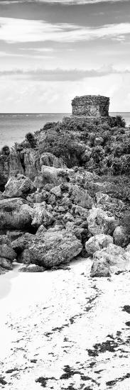 ¡Viva Mexico! Panoramic Collection - Tulum Ruins along Caribbean Coastline IV-Philippe Hugonnard-Photographic Print